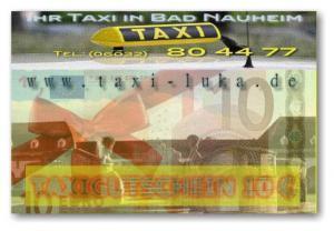 Taxi Bad Nauheim - Taxi-Gutschein